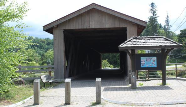 Jay Covered Bridge entrance