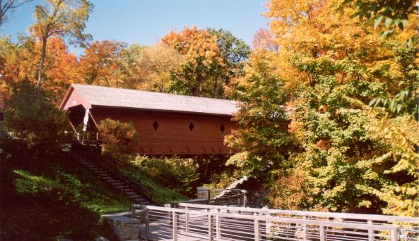 Newfield Covered Bridge - fall
