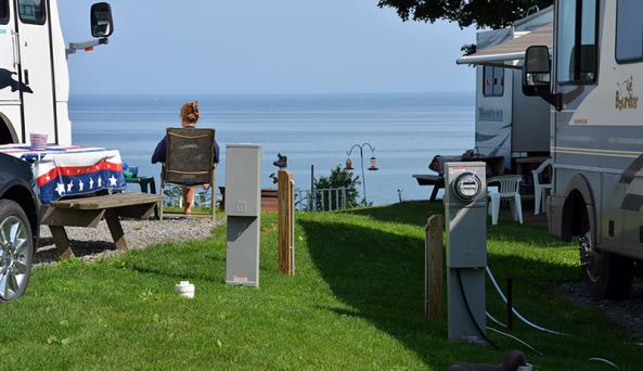 South Shore RV PArk Camper and View