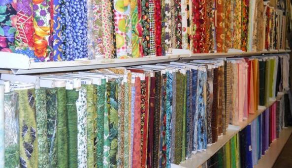 Springlake market and fabric inside