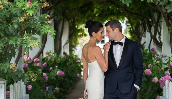 Wedding Couple at Bedell Cellars