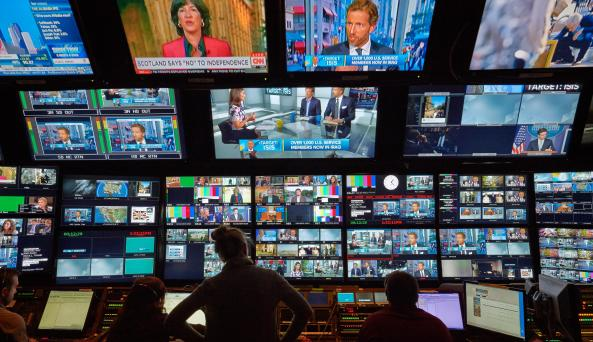 control room on The Tour at NBC Studios