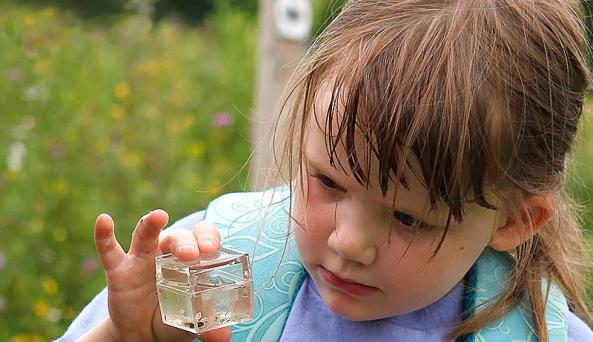 girl w sample - Photo Courtesy of  George Potanovic Jr and HHNM