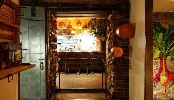 dining room at Hearth