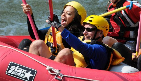 Couples Rafting on the Hudson River