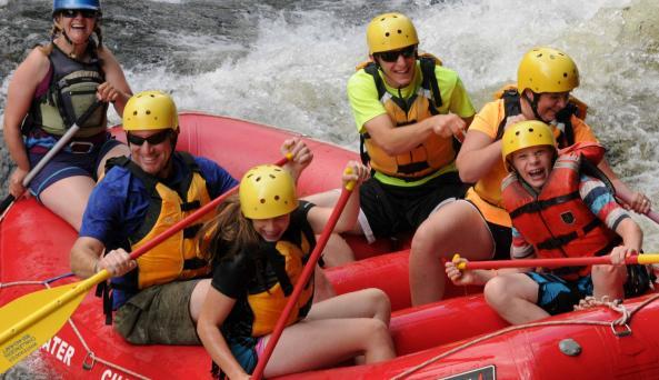 Summer Family Rafting on the Hudson River