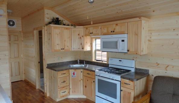 Hudson Valley Forest Cabin Interior