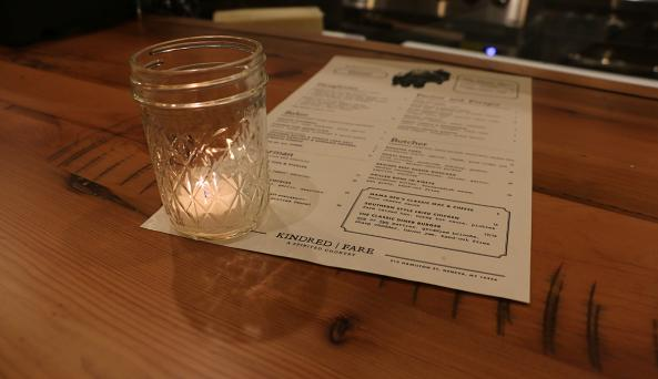 kindred-fare-geneva-menu-candle