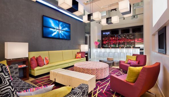 wxyz bar inside the Aloft Manhattan Downtown–Financial District