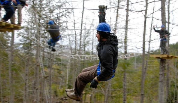 Ziplining in the Adirondacks