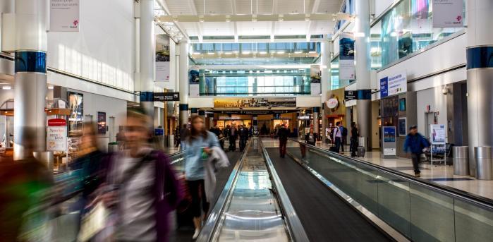 Interior of Bush Intercontinental Airport in Houston