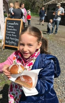 Hot Cross Buns at Spring on the Farm by Taj Morgan
