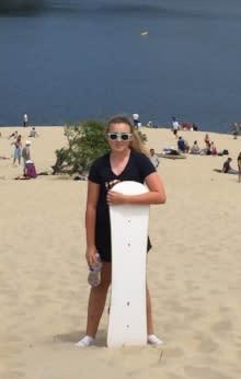 Sandboarding by Aubree Nash
