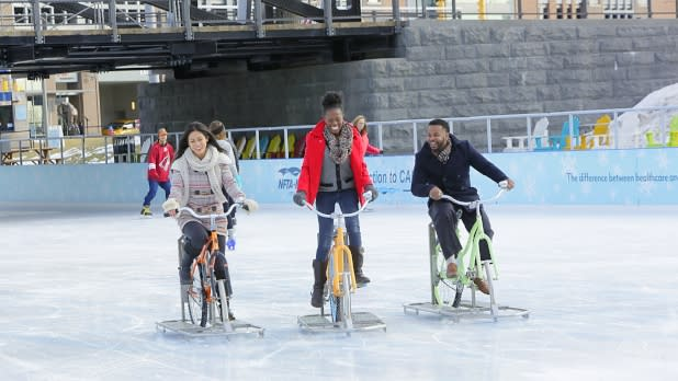 Ride an Ice Bike at Canalside