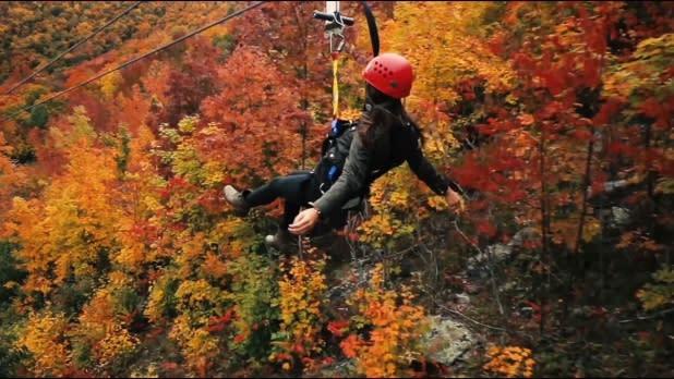 Zip Lining at Hunter Mountain