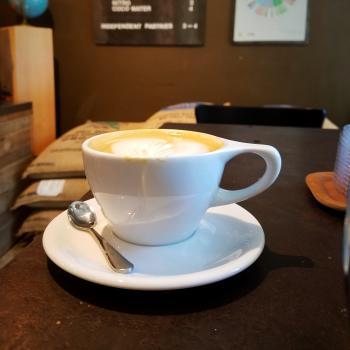 A delicious cappuccino at 1000 Faces Coffee - Athens, Georgia