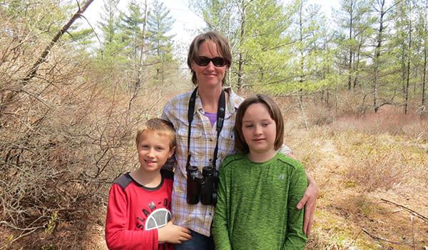 Family at Michael Nichols Pinhook Bog