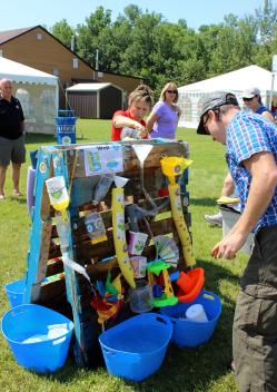 The water tower was a hit at Water Awareness Day.