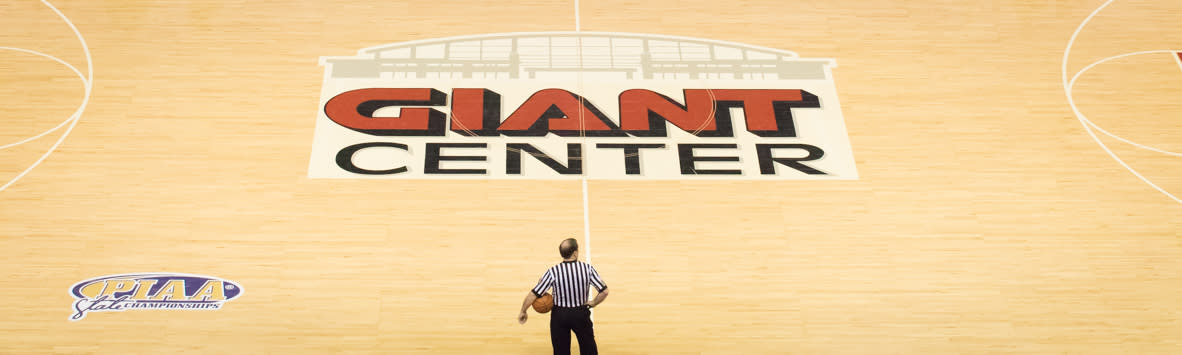 PIAA Basketball at Giant Center in Hershey Pre Game