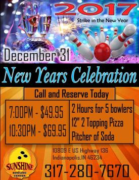 Bowl in the new year at Sunshine Bowling Center