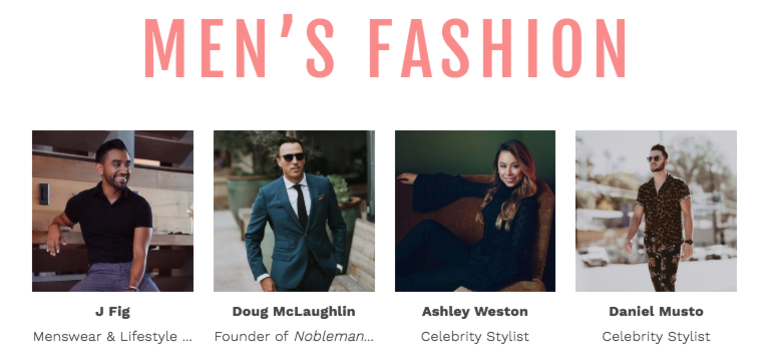 Style Week OC SIMPLY Mens Fashion Panel Speakers