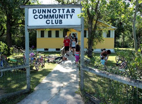 Lovely morn at the Dunnottar Community Club.