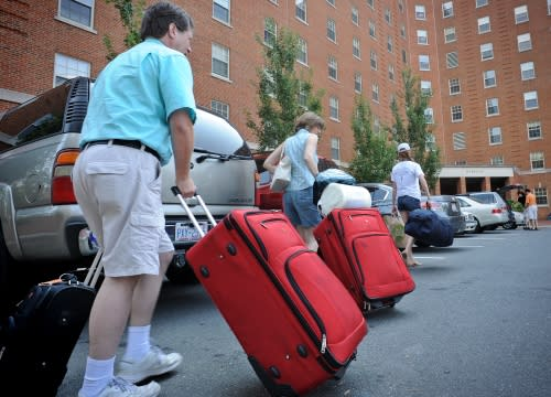 Move in Day on the UNC campus