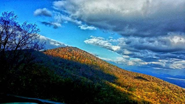 Fall Blue Ridge Mountain Sky Light - Fall Photo