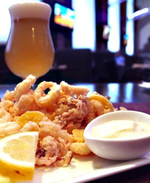 Beer and Calamari