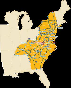 VBR Geographical Map