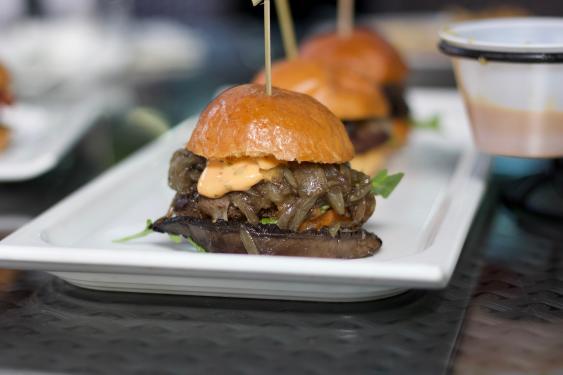 Beef sliders at Bistango in Irvine