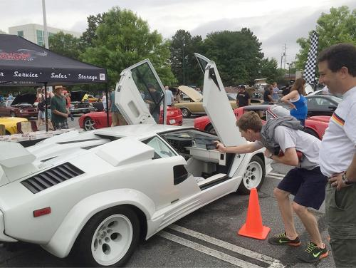 Exotic car at Caffeine and Octane