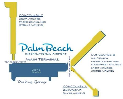 Concourse Map by Airline
