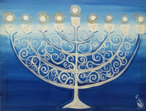 Hanukkah Painting PWAT