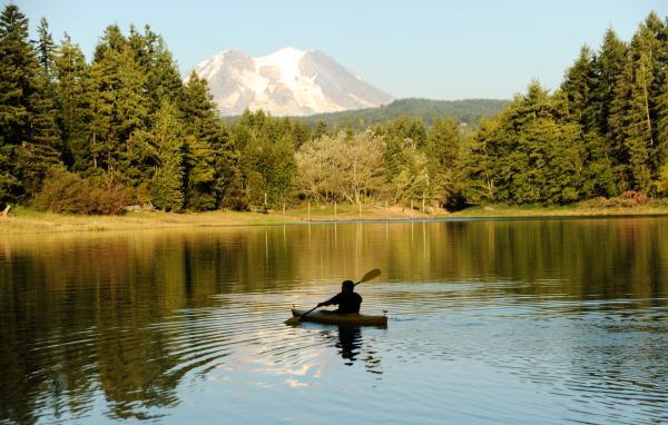 Alder Lake Near Mount Rainier