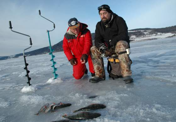 Ice fishing near Comfort Hotel Grand