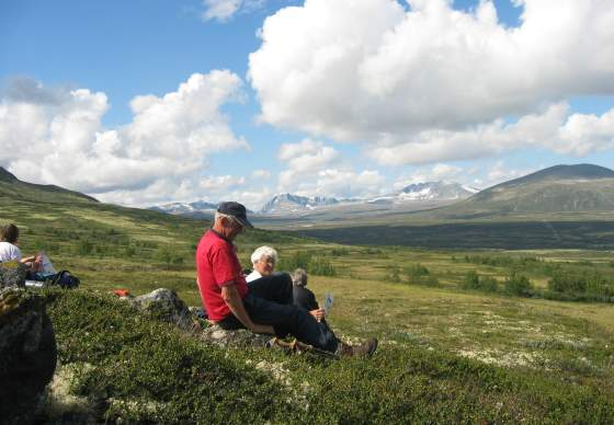 Rambling in the Nationalpark Dovrefjell - Along the Pilgrim´s Trail with luggagetransport