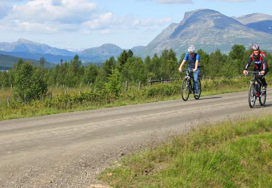 Family cycling tour in Valdres