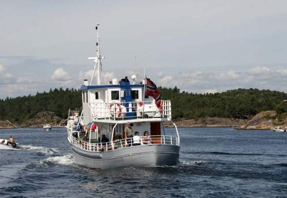Båttur med M/B Øya mellom Lillesand og Kristiansand
