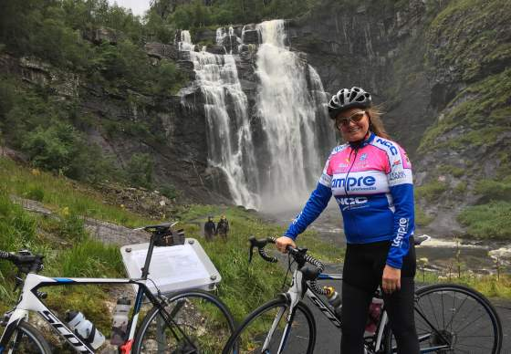Bike the Fjords - Skjervsfossen waterfall