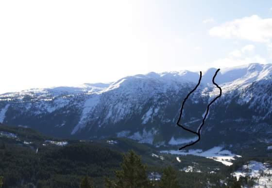 Topptur på ski til Hengjefjell i Valle