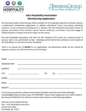 Hospitality Association Membership Form