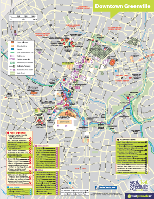 DOWNTOWN GREENVILLE MAP