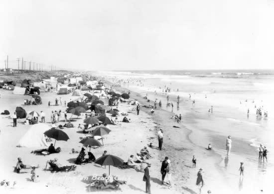 Beach Umbrellas - 1930