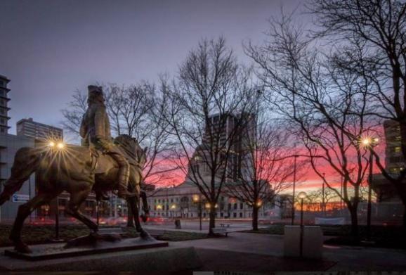 Freimann Square Sunset Instagram - Kevin Mullet - Fort Wayne,IN