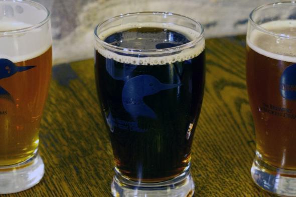 Flight of Beer at Brewery of Broken Dreams