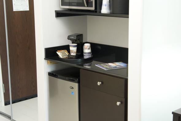 All Rooms Equipped With Fridge, Microwave & Coffee Maker