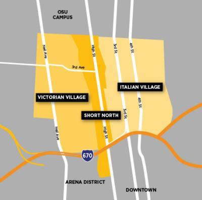Short North Neighborhood Map