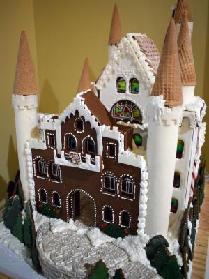 gingerbread creation at the George Eastman Museum