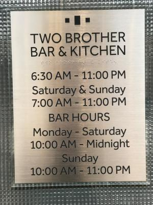 Two Brother Restaurant Sign